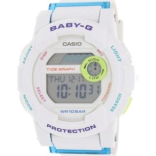 Casio Women's Baby-G BGD180FB-7 White Resin Quartz Watch