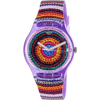 Swatch Women's Originals SUOV102 Multi Rubber Quartz Watch