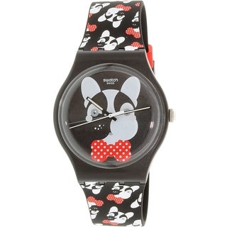 Swatch Women's Originals SUOB115 Black Silicone Swiss Quartz Watch