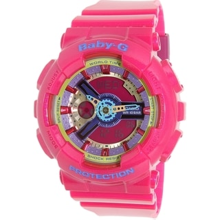 Casio Women's Baby-G BA112-4A Pink Resin Quartz Watch