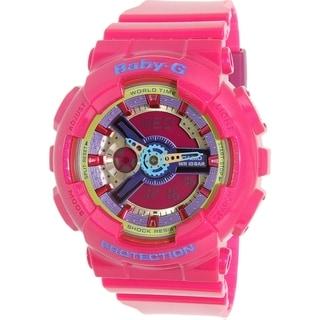 Casio Women's Baby-G BA112-4A Pink Resin Quartz Watch