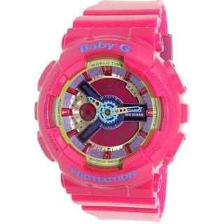 Casio Women's Baby-G Pink Resin Quartz Watch