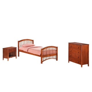 Night And Day Furniture Twin-size Molasses Junior Suite