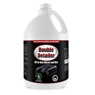 Double Detailer 1-gallon Car Wash and Wax - Non-toxic Water Spot Free All In One Car Wash and Gloss Enhancer