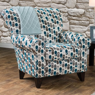 Furniture of America Mellie Transitional Geometric Print Arm Chair