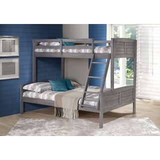Pine Canopy Saponaria Grey Wood Twin over Full Bunk Bed