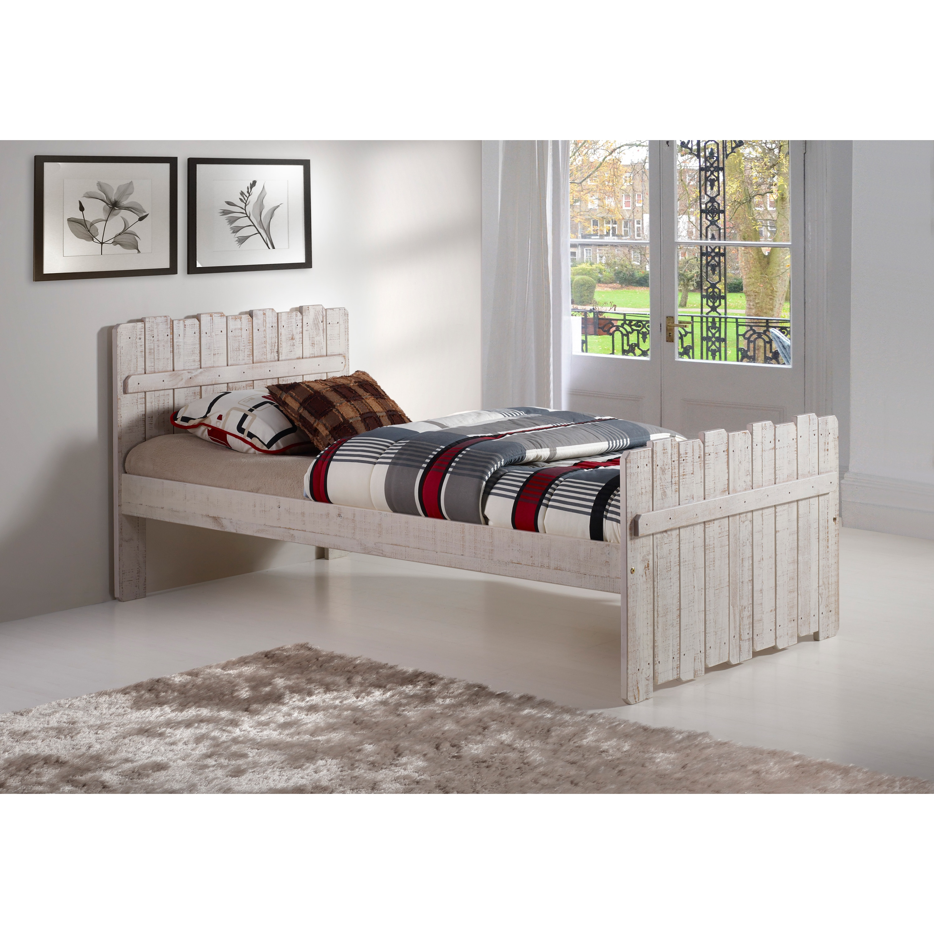 Donco Kids Rustic Sand Twin Tree House Bed (Twin Bed), Be...