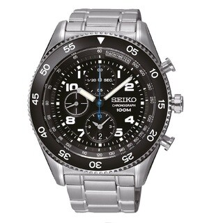 Seiko Men's SNDG59P1 Chronograph Black Watch