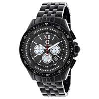 Centorvm Men's Chronograph 3/5ct TDW Black Diamond Watch