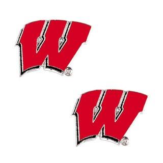 NCAA Wisconsin Badgers Post Stud Earring Charm Set|https://ak1.ostkcdn.com/images/products/11098603/P18104015.jpg?_ostk_perf_=percv&impolicy=medium