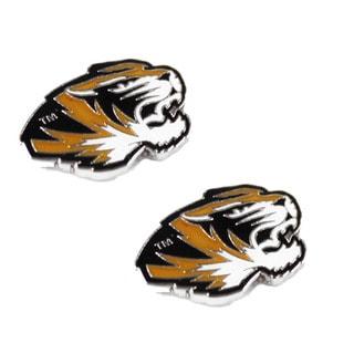 NCAA Missouri Tigers Mizzou Post Stud Earring Charm Set (Option: Missouri Tigers)