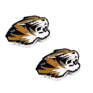 NCAA Missouri Tigers Mizzou Post Stud Earring Charm Set