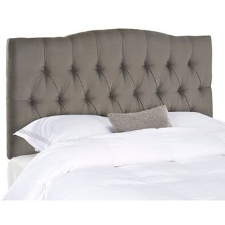 Safavieh Axel Arctic Grey Upholstered Tufted Headboard King