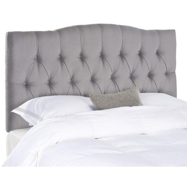 Safavieh Axel Arctic Grey Upholstered Tufted Headboard (King) -  MCR4029C