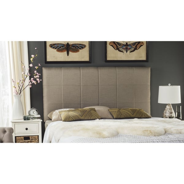 Shop safavieh quincy smokey grey box quilted upholstered for Quilted headboards
