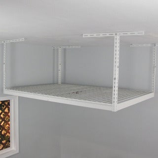 SafeRacks White 4' x 6' Overhead Garage Storage Rack