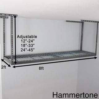 MonsterRax 2' x 8' Overhead Garage Storage Rack
