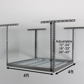 MonsterRax 4' x 4' Overhead Garage Storage Rack