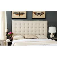 Safavieh Lamar Wheat Linen Blend Upholstered Tufted Headboard (King)
