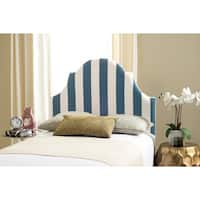 Safavieh Hallmar Navy/ White Stripe Upholstered Arched Headboard (Twin)