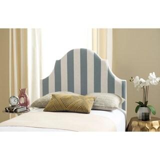 Safavieh Hallmar Grey/ White Stripe Upholstered Arched Headboard (Twin)