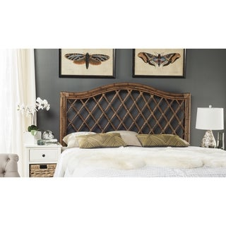 Safavieh Gabrielle Brown/ Multi Rattan Wicker Trellis Headboard (Queen)
