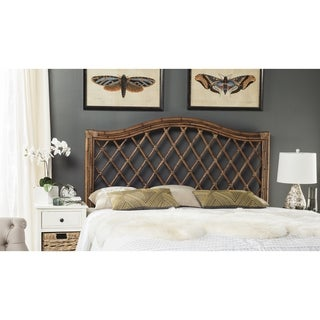 Link to Safavieh Gabrielle Brown/ Multi Rattan Wicker Trellis Headboard (Queen) Similar Items in Living Room Furniture