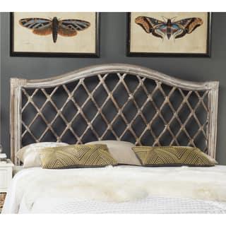 White Wicker Bedroom Furniture. Safavieh Gabrielle Antique Grey Rattan Wicker Trellis Headboard  Full Bedroom Furniture For Less Overstock com