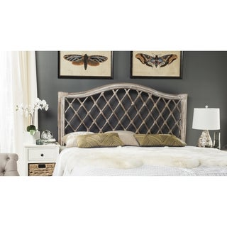 Safavieh Gabrielle Antique Grey Rattan Wicker Trellis Headboard (Queen)