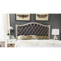 Safavieh Gabrielle Antique Grey Rattan Wicker Trellis Headboard (Queen)