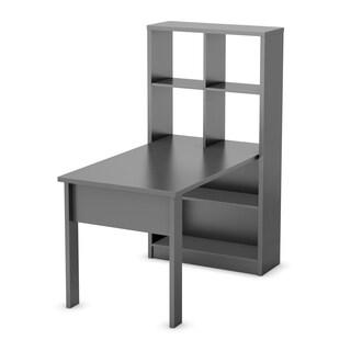 South Shore Black/ White Annexe Sewing Machine Craft Table and Storage Unit Combo (Option: Black - Black Finish)