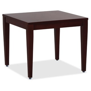 Lorell Solid Wood Square Mahogany Table