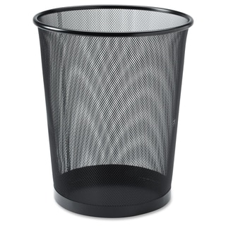 Lorell Black Mesh Round Waste Bin - (1/Each)