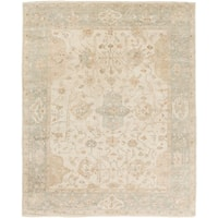 Hand Knotted Wigan Wool Area Rug - 8' x 10'