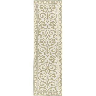 Hand Hooked Ave Polyester Rug (2'6 x 8')