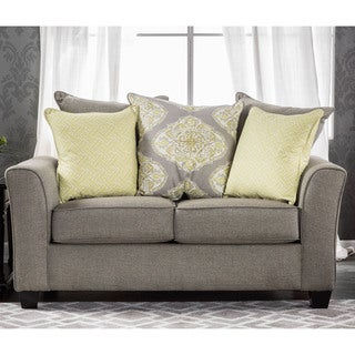 Furniture of America Shaylie Contemporary Grey Fabric Loveseat