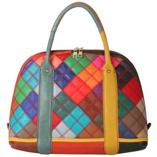 Diophy Multicolor Patchwork Satchel Handbag|https://ak1.ostkcdn.com/images/products/11099012/P18104293.jpg?_ostk_perf_=percv&impolicy=medium