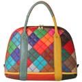 Diophy Multicolor Patchwork Satchel Handbag