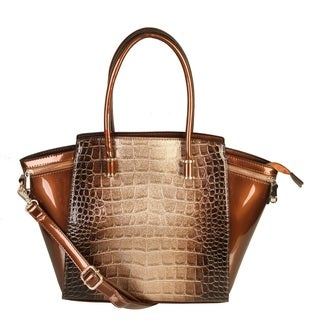 Rimen & Co. Pilot Wing Crocodile Grain Handbag