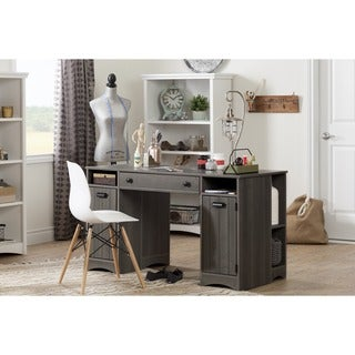 South Shore Artwork Craft and Sewing Machine Table with Storage