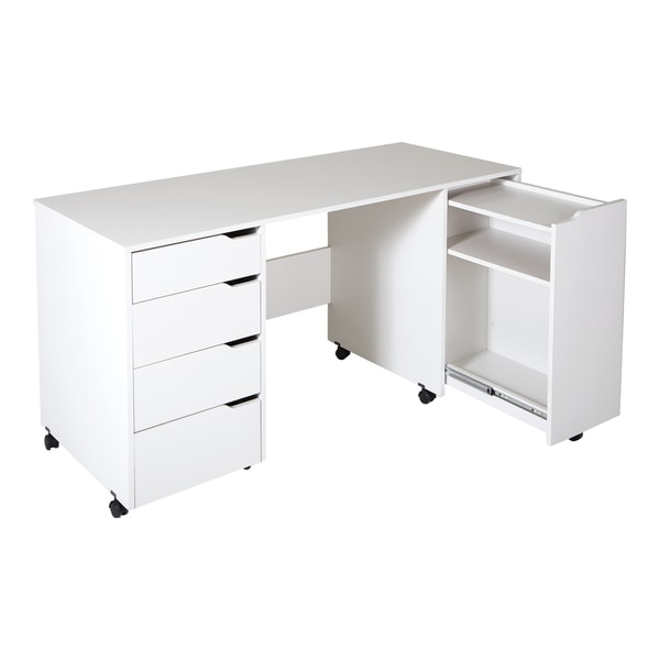 rolling laptop table office depot south shore sewing machine craft work tables small