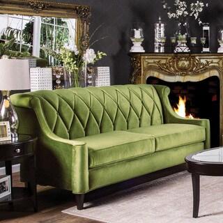 Furniture of America Leesha Formal Premium Fabric Sofa