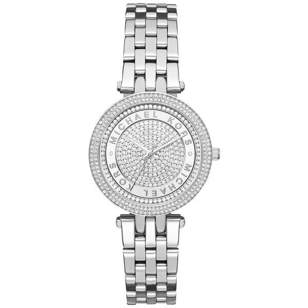 6e97dc78c0fb Shop Michael Kors Women s MK3476 Mini Darci Crystal Pave Dial Stainless  Steel Bracelet Watch - Free Shipping Today - Overstock - 11099062