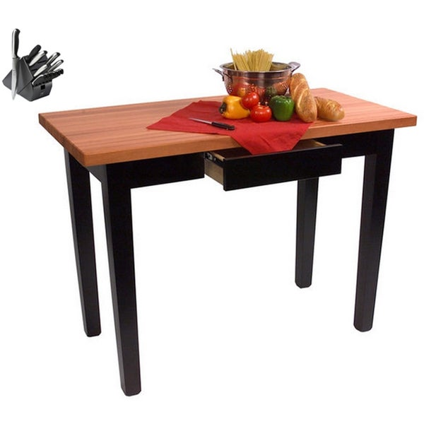 John Boos Cherry 48x24 Rn C4824 D Butcher Block Table With Drawer