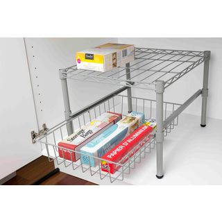 Home Basics Cabinet Organizer with Drawer