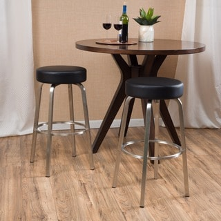 Zair Bonded Leather Barstool (Set of 2) by Christopher Knight Home