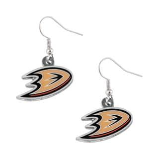 NHL Anaheim Ducks Dangle Logo Earring Set (Option: Anaheim Ducks) https://ak1.ostkcdn.com/images/products/11099163/P18104403.jpg?impolicy=medium