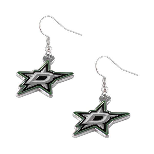 NHL Dallas Stars Dangle Logo Earring Set