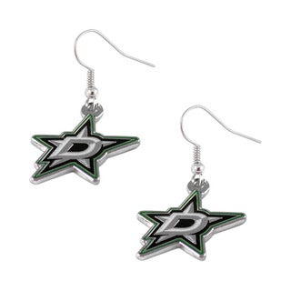 NHL Dallas Stars Dangle Logo Earring Set