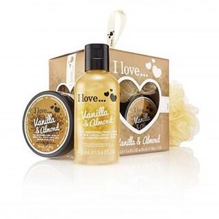 I Love... Vanilla & Almond Mini Bubble Bath & Shower Creme Set